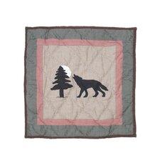 Wolf Trail Cotton Throw Pillow