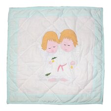 Baby Angels Cotton Throw Pillow