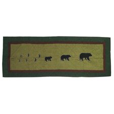 Bear Trail Cotton Bed Scarf
