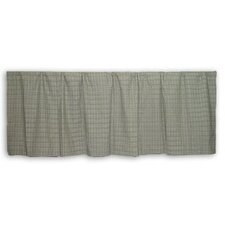 """Green Sage Plaid Black and White Lines 54"""" Curtain Valance"""