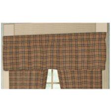 "Golden Brown Plaid Rod Pocket 54"" Curtain Valance"