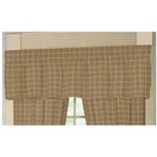 """Dark Brown Plaid Rod Pocket 54"""" Curtain Valance"""
