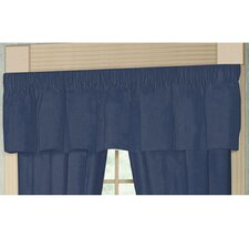 """Blue Dark Chambray Rod Pocket 54"""" Curtain Valance"""