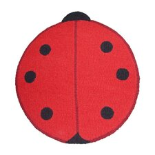 Ladybug Red/Black Small Spots Area Rug