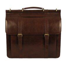 Sergei Classic Leather Laptop Briefcase