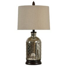 "Netted 26"" H Table Lamp with Drum Shade"