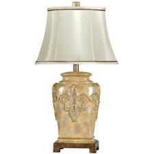 "Fleur De Lis 28"" H Table Lamp with Empire Shade"