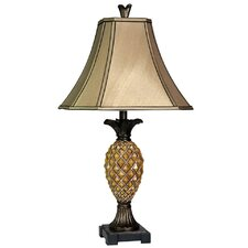 "Classic Pinapple Textured 29"" H Table Lamp with Bell Shade"