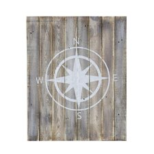 Compass Design Wooden Wall Décor