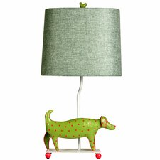 """Mini Dog 21"""" H Table Lamp with Drum Shade"""