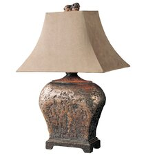 """Atlantis Bronze 27"""" H Table Lamp with Bell Shade"""