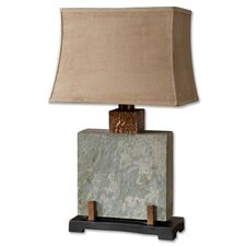 "Slate 29"" H Table Lamp with Bell Shade"