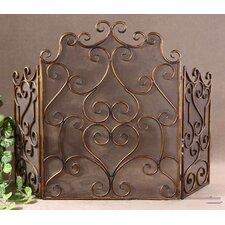 Kora 3 Panel Metal Fireplace Screen