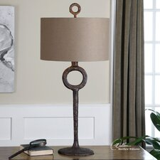 "Ferro 34.75"" H Table Lamp with Drum Shade"
