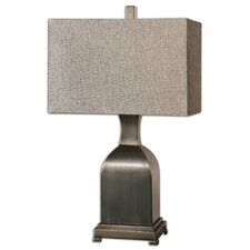 """Erlingr Oil-Rubbed 27"""" H Table Lamp with Rectangular Shade"""