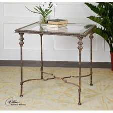 Quillon Glass End Table