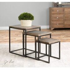Bomani 3 Piece Nesting Table Set
