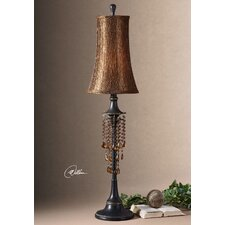 """Ellenton 34"""" H Table Lamp with Bell Shade"""
