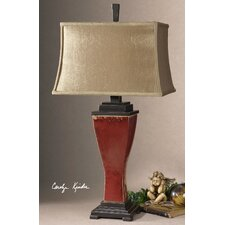"""Abiona 33"""" H Table Lamp with Bell Shade"""