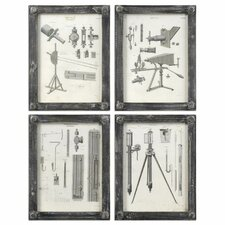 Optics Vintage 4 Piece Wall Art Set