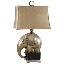 "Abayomi 32"" H Table Lamp with Bell Shade"