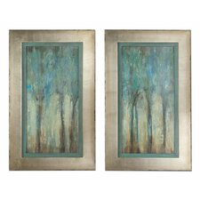 Whispering Wind Framed Original Painting (Set of 2)