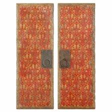 2 Piece Door Panel Wall Décor Set