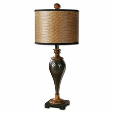 "Javini 32"" H Table Lamp with Drum Shade"