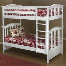 Curved Twin Bunk Bed with Built-In Ladder