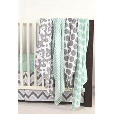 Ikat Dots/Stripes 4 Piece Swaddling Muslin Blanket Set