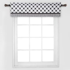 Dots/Pin Stripes Window Curtain Valance