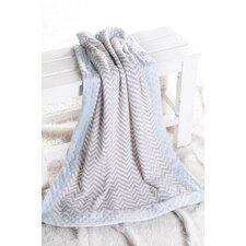 Ikat Zigzag with Border Plush Blanket