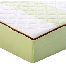 Metro Quilted Changing Pad Cover in Lime and Chocolate
