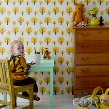 "Dotty Kids 32.8' x 20.9"" Floral and Botanical Wallpaper"