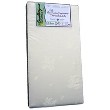 Cradletyme Naturals EcoFoam Supreme Damask Cloth Crib Mattress