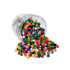 500 Piece Centimeter Cubes 10 Colors