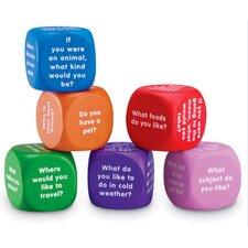 6 Piece Conversation Cubes Letters Set