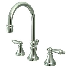 Madison Widespread Bathroom Faucet with Metal Lever Handle