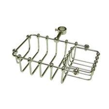 """Vintage 7"""" Riser Mount Soap Basket"""
