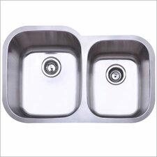 """31.5"""" x 20.5"""" Gauge Undermount Double Bowl Kitchen Sink"""
