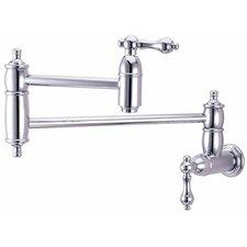 Decorative Double Handle Wall Mount Pot Filler Faucet