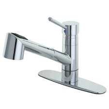 Wilshire Single Handle Pull Out Kitchen Faucet with Deck Plate