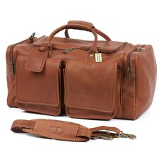 "Hampton's 20"" Leather Travel Duffel"