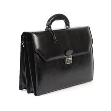 Italian Leather Laptop Briefcase