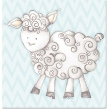 Baby Animals Shelby Sheep Canvas Art