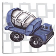 Transportation Vintage Cement Mixer Toy Canvas Art