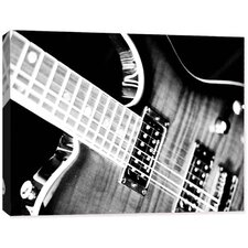 Photography Electric Guitar Wrapped Photographic Print on Canvas