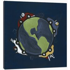 TransportationWorld Race Canvas Art
