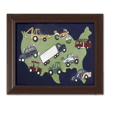 Sports Wheels USA Framed Art