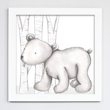 Forest Baker Bear Framed Art